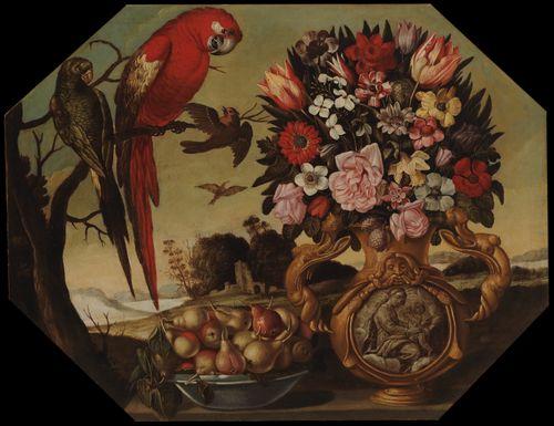 Kukkia ja papukaijoja