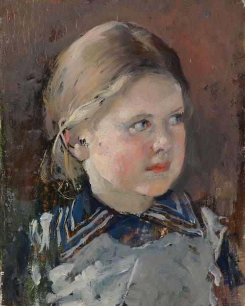 Tytön pää, harjoitelma vapaaherra Viktor Magnus von Bornin perhemuotokuvaa varten