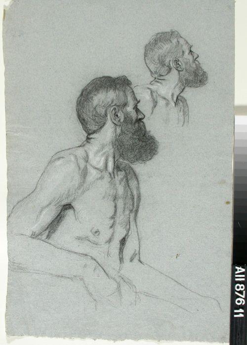 Miesmalli, puolivartalo ja rintakuva