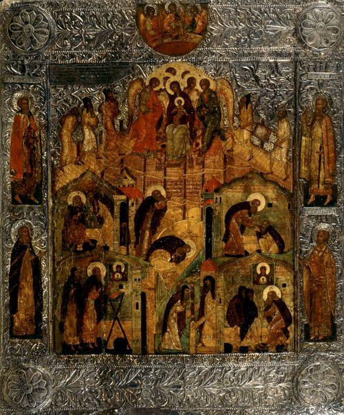 Neitsyt Marian ilmestyminen pyhittäjä Aleksanteri Syväriläiselle kirkon perustuksella