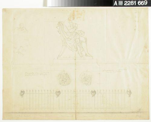 H.G. Porthanin muistopatsaan piirustus