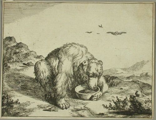 Karhu juomakulholla