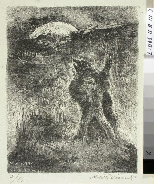 Kiven Kanervalan kuvitusta (7) ; Karhunpyynti