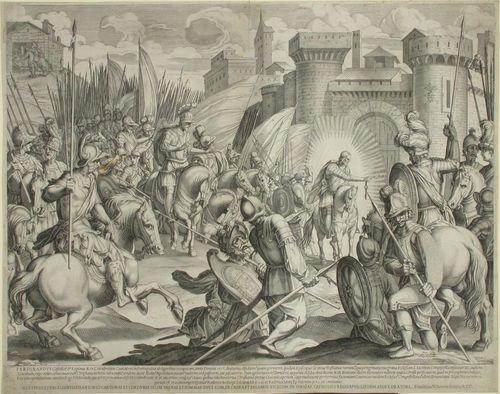 Pyhä Jacopo di Compostella ilmestyy Espanjan kuningas Ferdinandin armeijalla