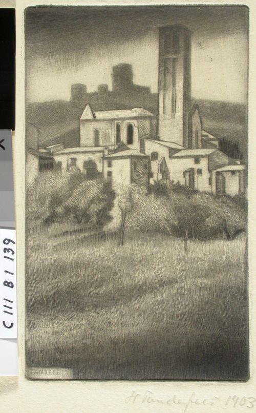 Italialainen kirkkomaisema (Assisi)