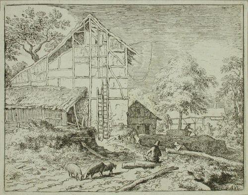 Kahdet tikapuut talon seinustalla
