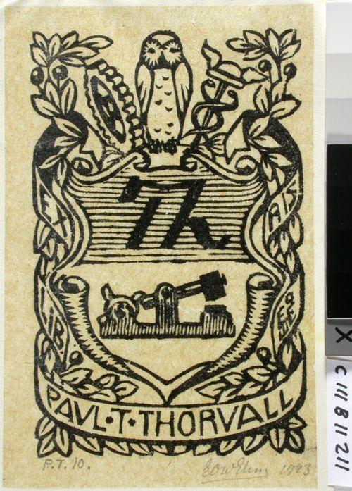 Paul T. Thorvallin exlibris