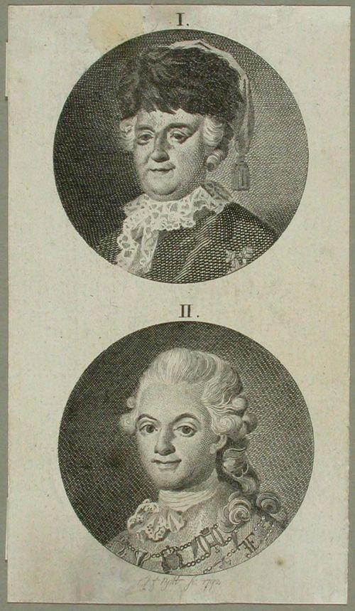 1. Katariina II ; 2. Kustaa III