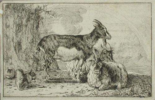 Vuohia ja kaksi oravaa