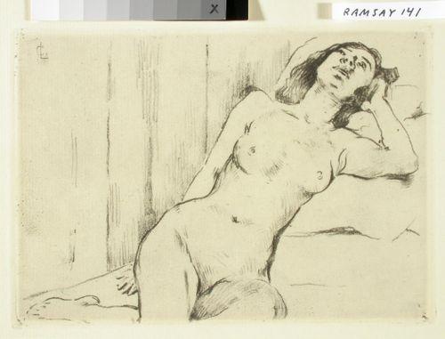 Makaava alaston tyttö