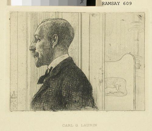 Kirjailija Carl Gustaf Laurin