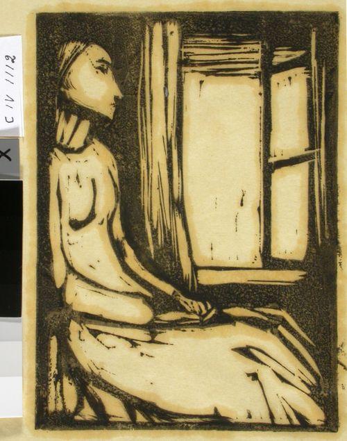 Nainen ikkunan ääressä
