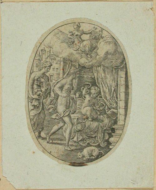 Herakles-lapsi kuristaa käärmeet