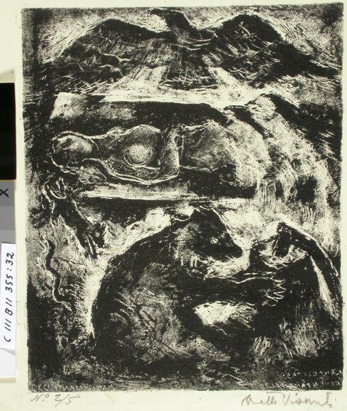Kantelettaren kuvitusta (32) ; Missä kanto, karhu kiskoi