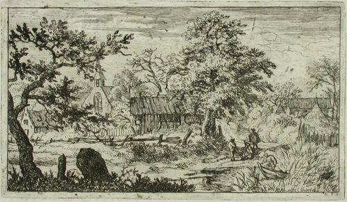 Vene kaislikossa kylän rannassa