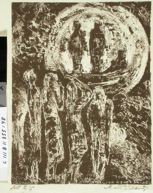 Kalevalan kuvitusta (48) ; Oli ennen neljä neittä