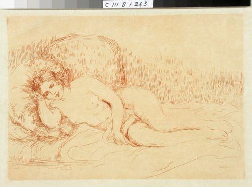 Lepäävä alaston nainen