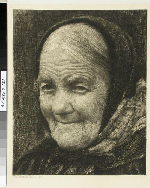 Vanha huivipäinen nainen
