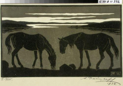 Hevosia rannalla