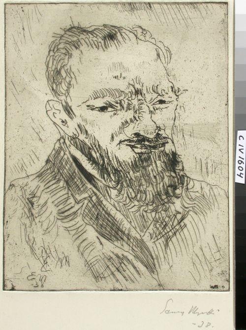 Parrakkaan miehen muotokuva