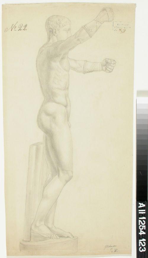 Akatemiaharjoitelma antiikin nyrkkeilijäaiheisesta kipsiveistoksesta