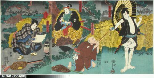 Kohtaus kabuki-näytelmästä