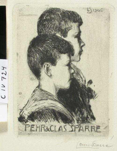 Taiteilijan pojat Pehr ja Clas