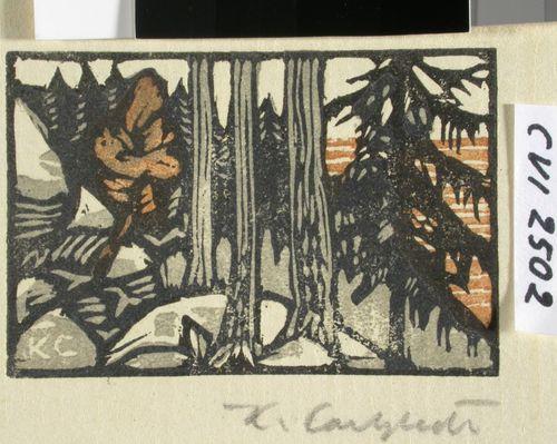 Metsä  Kuvitusta teokseen Sata Kantelettaren laulua