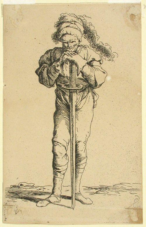 Sotilas miekkansa nojassa