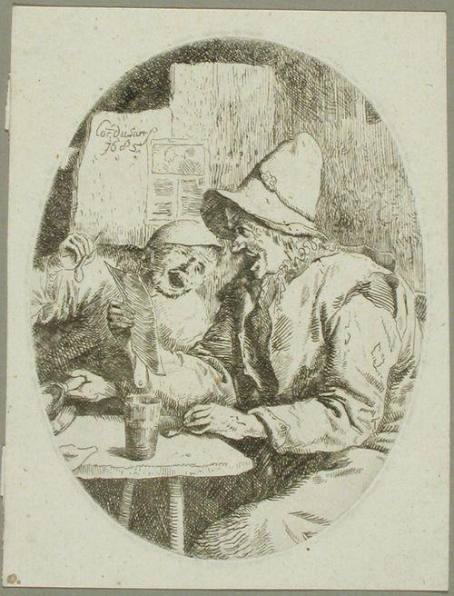 Kaksi laulavaa miestä kapakassa