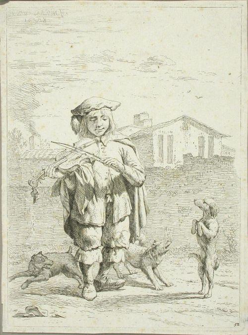 Viulunsoittaja ja koirat