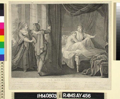 Le rossignol (Lafontainen runon kuvitusta)