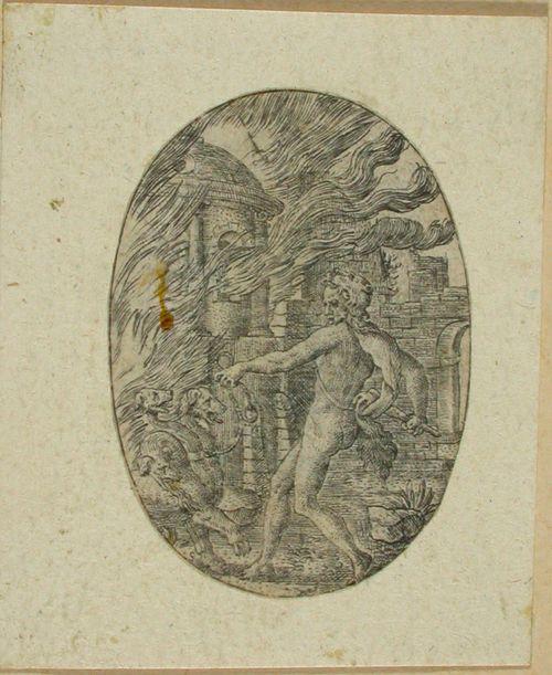 Herakles noutaa Kerberoksen manalasta