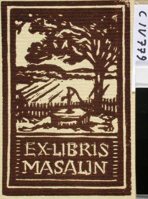 Johtaja Georg Masalinin exlibris