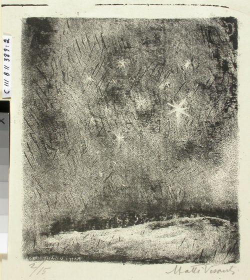 Eino Leinon Alla kasvon kaikkivallan kuvitusta (2) ; Hiljaisessa talviyössä (Tähdet)