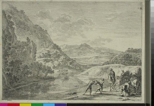 Kalastusta Tiberin rannalla (Les pêcheurs)