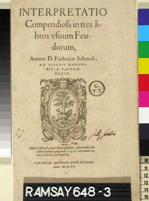 1500-1600-lukujen kirjojen nimilehtien koristeaiheita 1-7 kpl