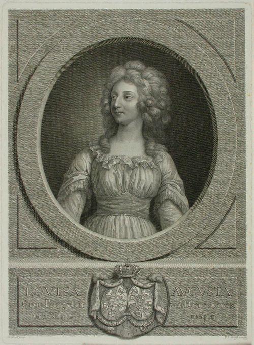 Tanskan prinsessa Lovisa Augustan puolivartalokuva