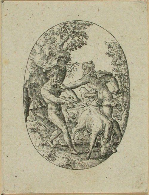 Kakos yrittää varastaa härät Herakleelta