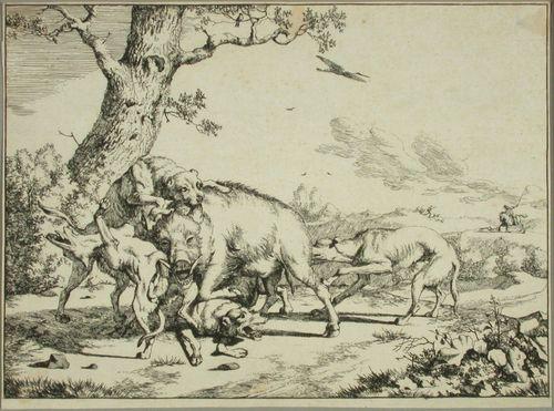 Koirat villikarjun kimpussa