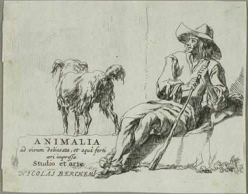 Teoksen nimilehti - Paimen ja koira