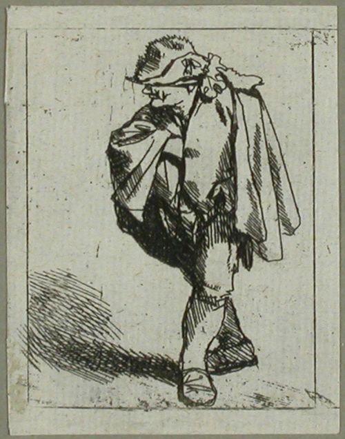 Mies viitta harteillaan (L'Homme ayant la main dans son pourpoint)