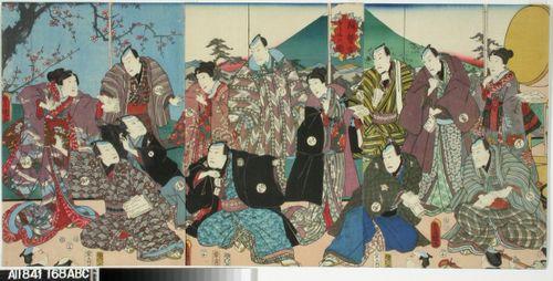 Ryhmä kabuki-näyttelijöitä
