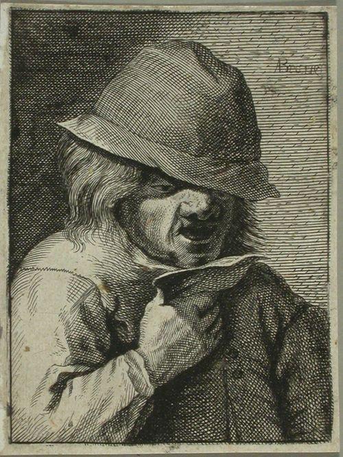 Laulava talonpoika kapealierinen hattu päässä
