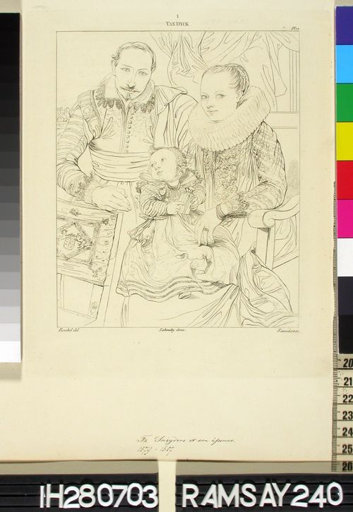 Taiteilija F. Snyders perheineen