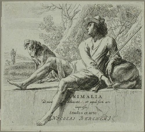 Sarjan nimilehti - Istuva paimen ja koira