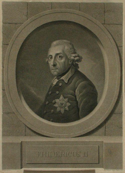 Preussin kuningas Fredrik II:n rintakuva