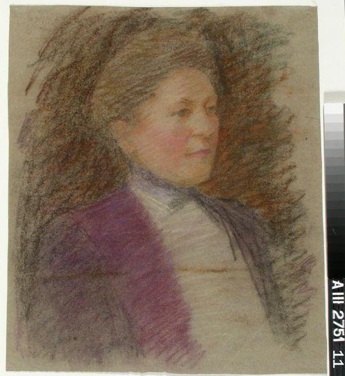 Neiti Anna Wiikin muotokuva, harjoitelma