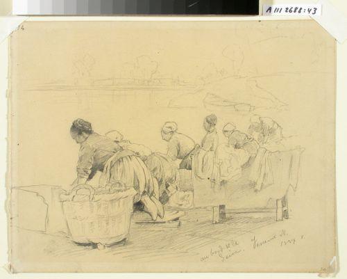Pyykkäreitä Seinen rannalla