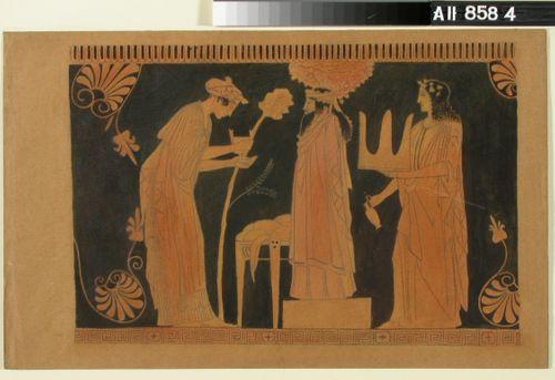 Kopio kreikkalaisesta vaasimaalauksesta